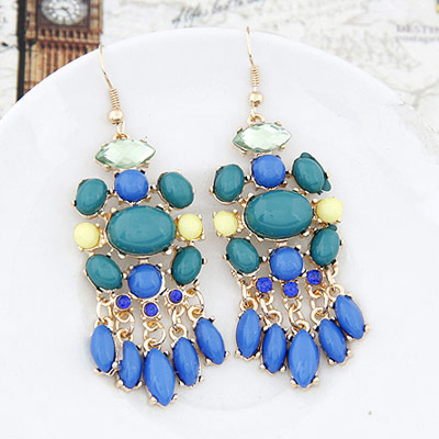 Blue Waterdrop Tessal Earring