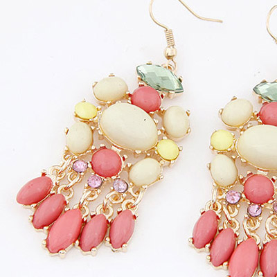 Light Plum Red Waterdrop Tessal Earring
