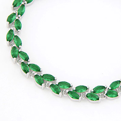 Green Crystal Bracelet
