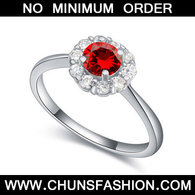 Garnet Red Diamond Flower Zircon Crystal