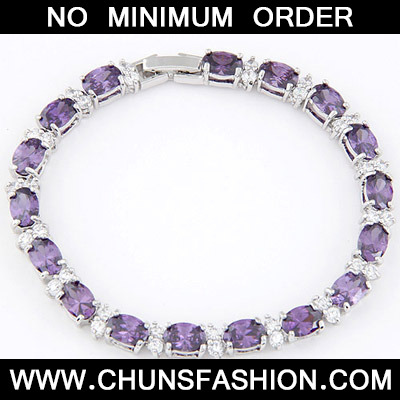 Purple Zircon Crystal Bracelet