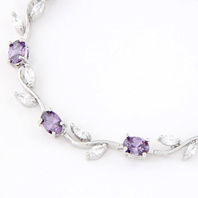 Purple Diamond Leaf Shape Zircon Crystal