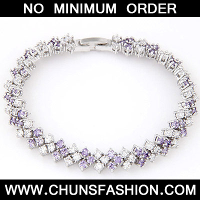 Purple Diamond Square Shape Zircon Crystal