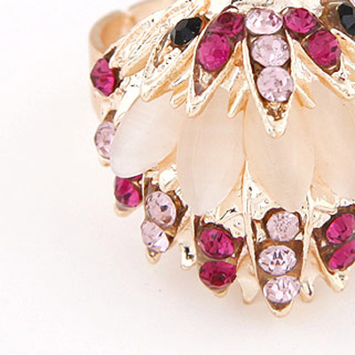 Pink Diamond Hedgehog Shape Ring