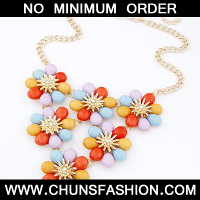 MultiFlower Shape Necklace