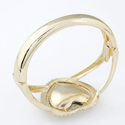 Gold Heart Shape Bangle