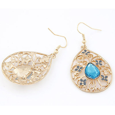 Blue Hollow Out Earring