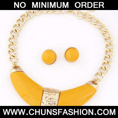 Yellow Jewelry Set