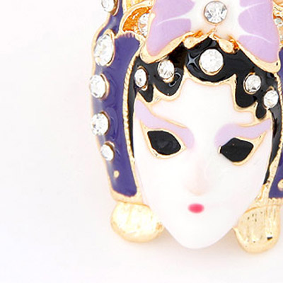 Light Purple Diamond Mask Shape Ring
