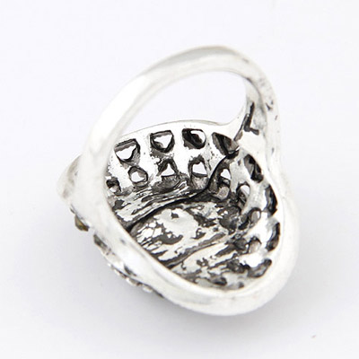 Gun Black Diamond Ring