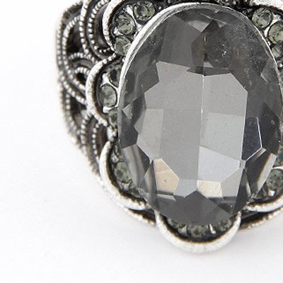 Gray Oval Shape Ring