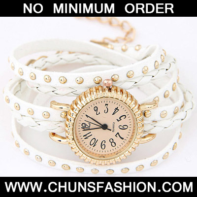 White Rivet Multilayer Ladies Watch