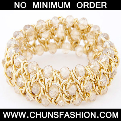 White Multilayer Weave Bangle