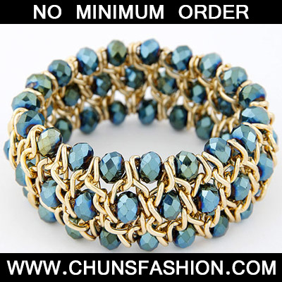 Light Blue Multilayer Weave Bangle