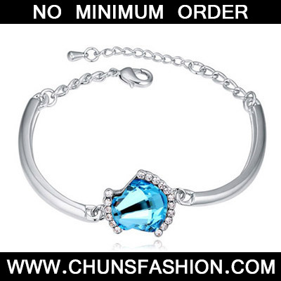 Navy Blue Shell Shape Crystal Bracelet