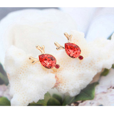 Padparadscha & Champagne Gold Antlers Waterdrop