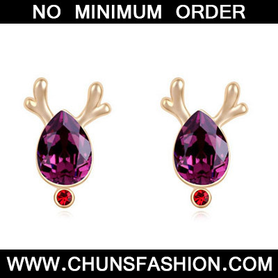 Purple & Champagne Gold Antlers Waterdrop