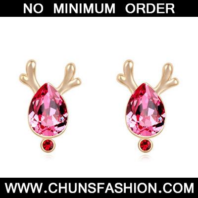 Plum Red & Champagne Gold Antlers