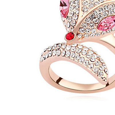Plum Red & Rose Gold Diamond
