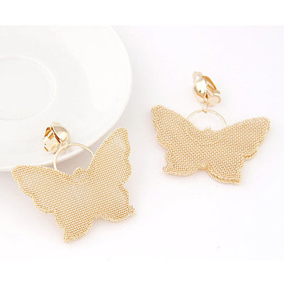 Gold Butterfly Hollow Out Earring