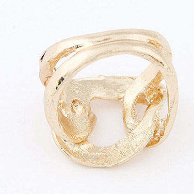 Gold Metal Weave Ring - Click Image to Close