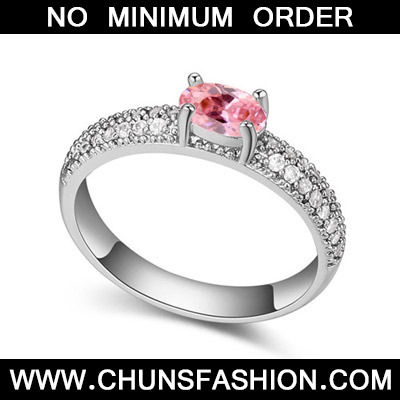 Pink Diamond Zircon Crystal Ring