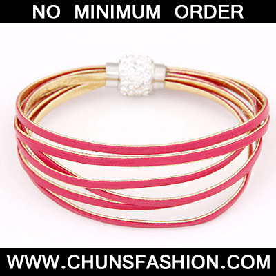 Plum Red Mutilayer Bracele