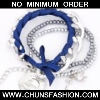 Blue & Silver Bowknot Multilayer Bracele