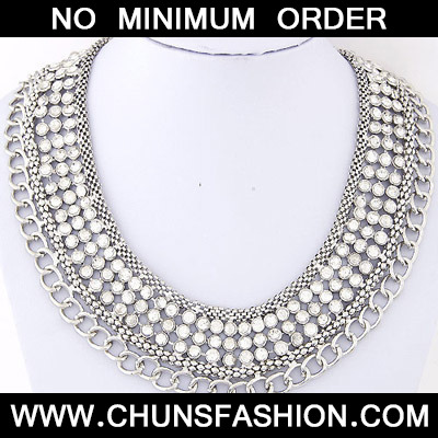 Silver Chain Multilayer Necklace
