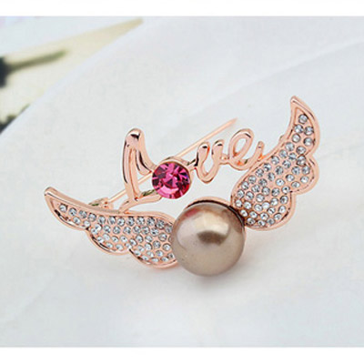 Copper & Rose Gold Pearl Wings