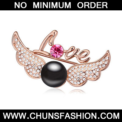 Black & Rose Gold Pearl Wings
