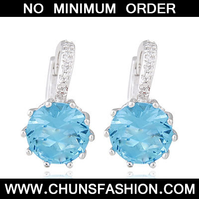 Blue Diamond Crystal Earring