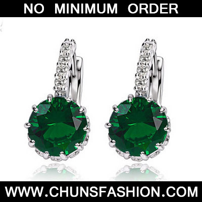Green Diamond Crystal Earring