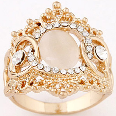 Apricot Diamond Ring