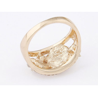 Apricot Oval Shape Ring