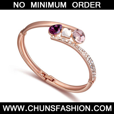 Purple & Rose Gold Diamons Crystal