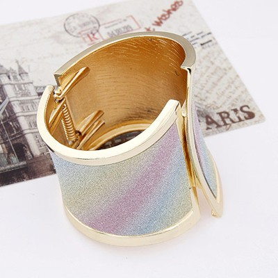 MultiGeometrical Shape Wide Bangle
