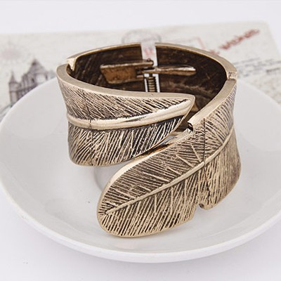 Bronze Leaf Shape Bangle