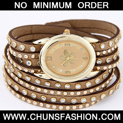 Beige Diamond Multilayer Ladies Watch