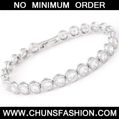 White Diamond Zircon Bracelet