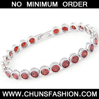 Red Diamond Zircon Bracelet