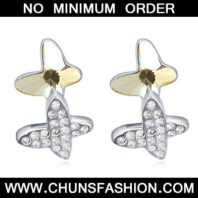 Light Yellow Diamond Butterfly Shape Crystal