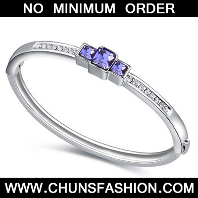 Pinkish Purple Diamond Crystal Bracelet