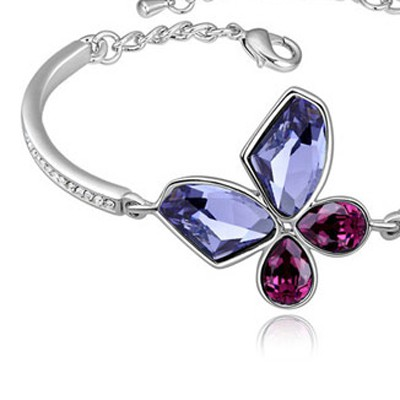 Pinkish Purple & Purple Butterfly Shape
