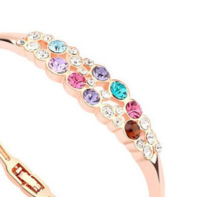 Multi& Rose Gold Diamond Crystal Bracelet