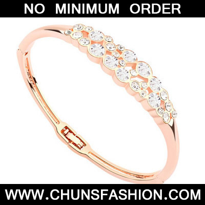 White & Rose Gold Diamond Crystal
