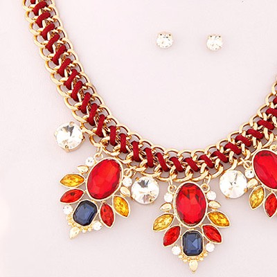 Red Jewelry Set