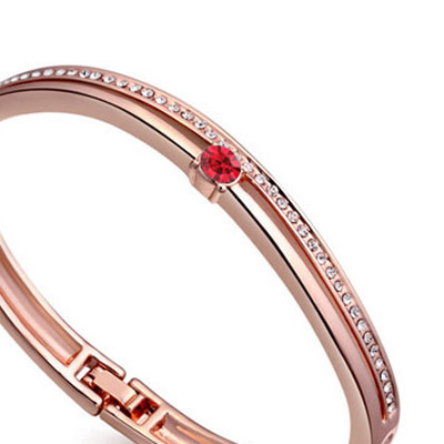 Light Red & Rose Gold Diamond