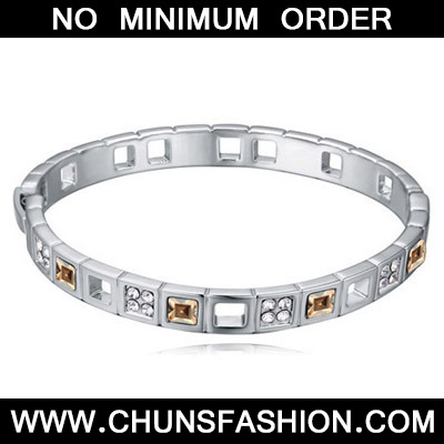 Gold Diamond Crystal Bracelet