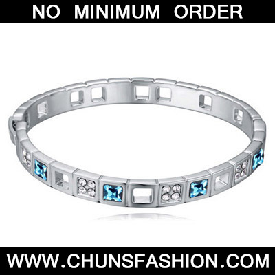 Navy Blue Diamond Crystal Bracelet